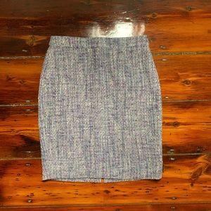 Jcrew blue and purple tweed skirt